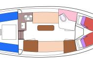 RiverCruise 31 Cabrio - Motorboot huren in Friesland - Ottenhome Heeg